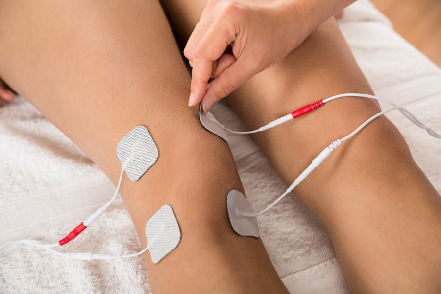 tens placement for knee pain
